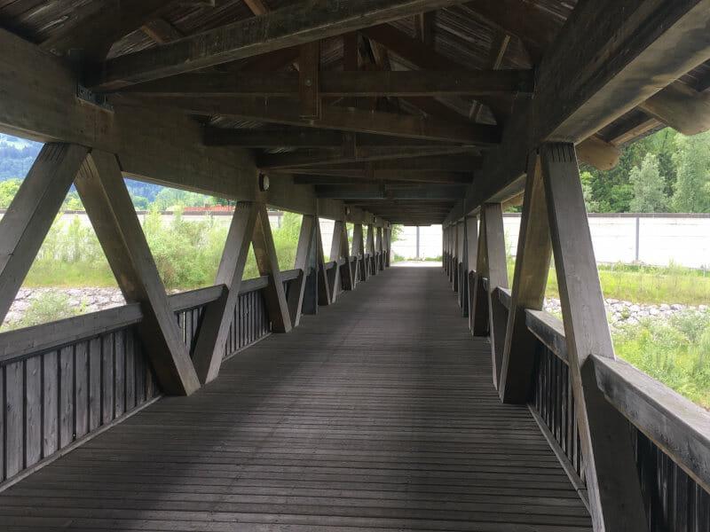 Brücke zwischen Niederndorf und Oberaudorf - Mozartradweg in Österreich