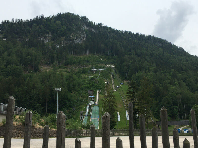 Chiemgau Arena in Ruhpolding am Mozartradweg