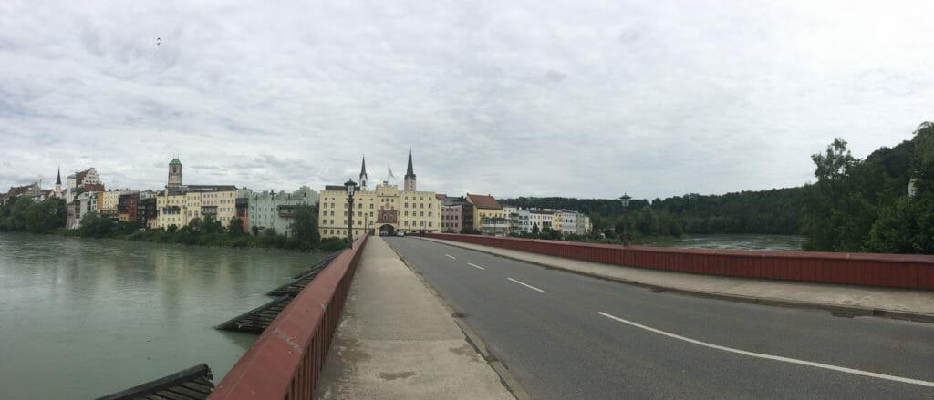 Wasserburg am Inn - Panoramabild - Mozartradweg