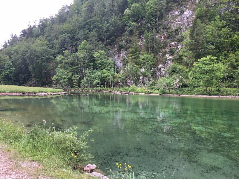 Förchensee zwischen Ruhpolding und Reit am Winkl - Mozartradweg