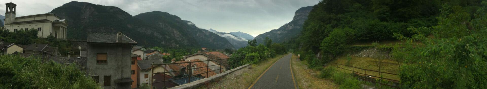 Alpe-Adria-Radweg Chiusaforte Panorama