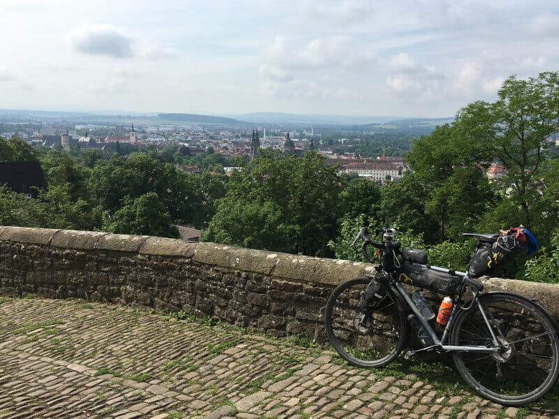 Aussicht vom Kloster Frauenberg in Fulda - Fuldaradweg