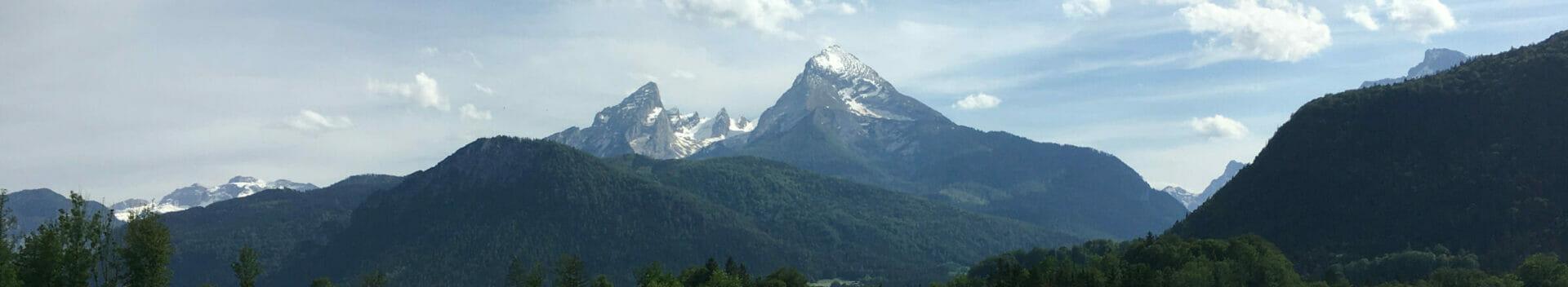 Bayrisches Alpenvorland - Blick auf den Watzmann - Fahrradregion