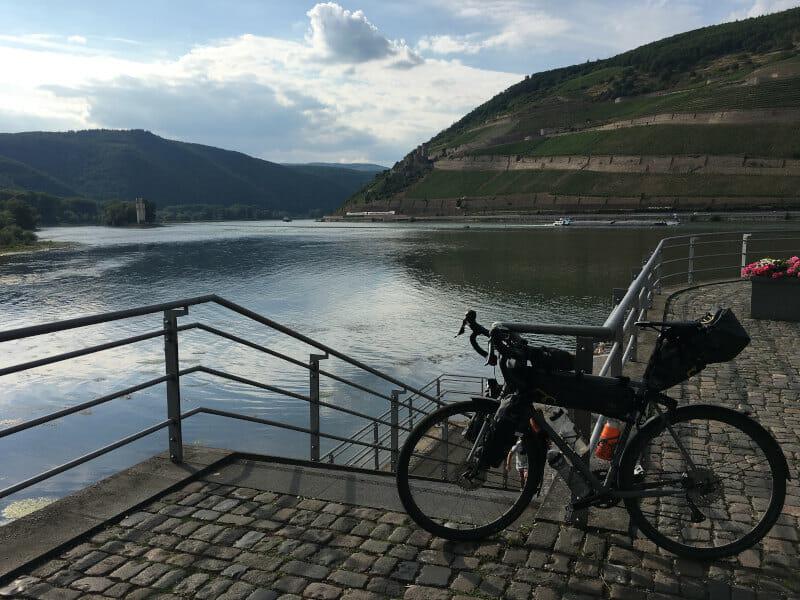 Bingen am Rhein an der Nahe - Naheradweg - Rheinradweg