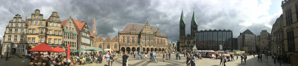 Die Innenstadt von Bremen - Weserradweg Radtour