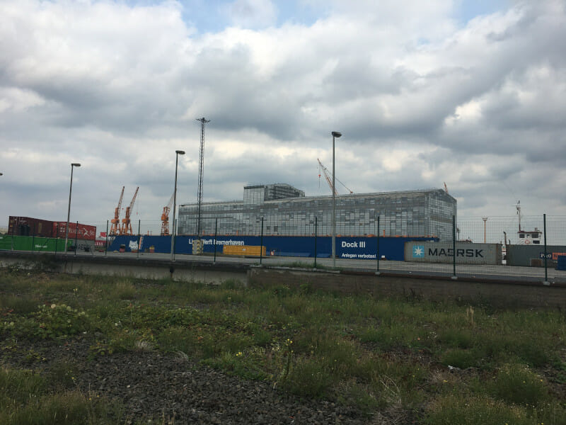 Industriehafen Bremerhaven - Radtour Weser