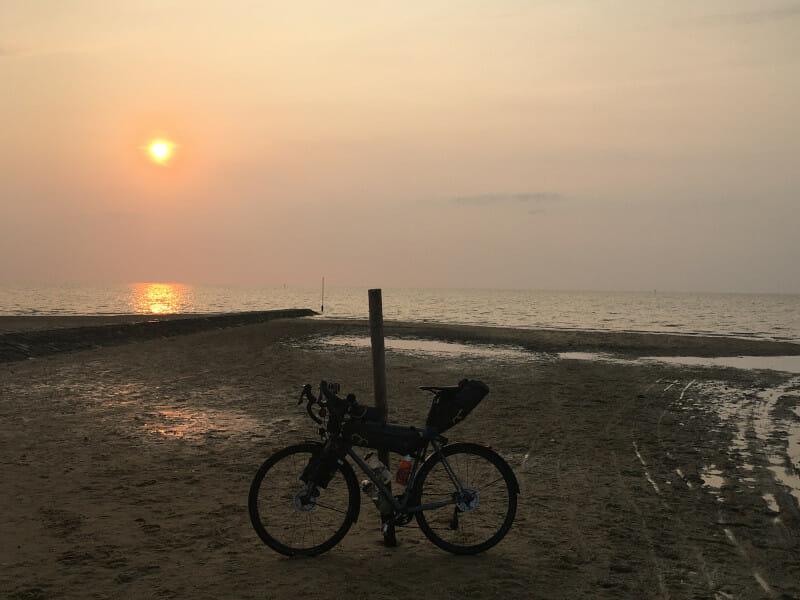 Cuxhaven an der Nordsee - Gravelbike - Weserradweg