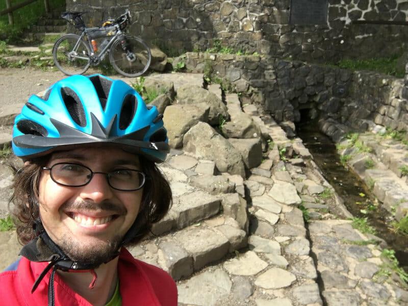 Fuldaquelle in Gersfeld an der Röhn - Fuldaradweg mit mir und meinem Bike