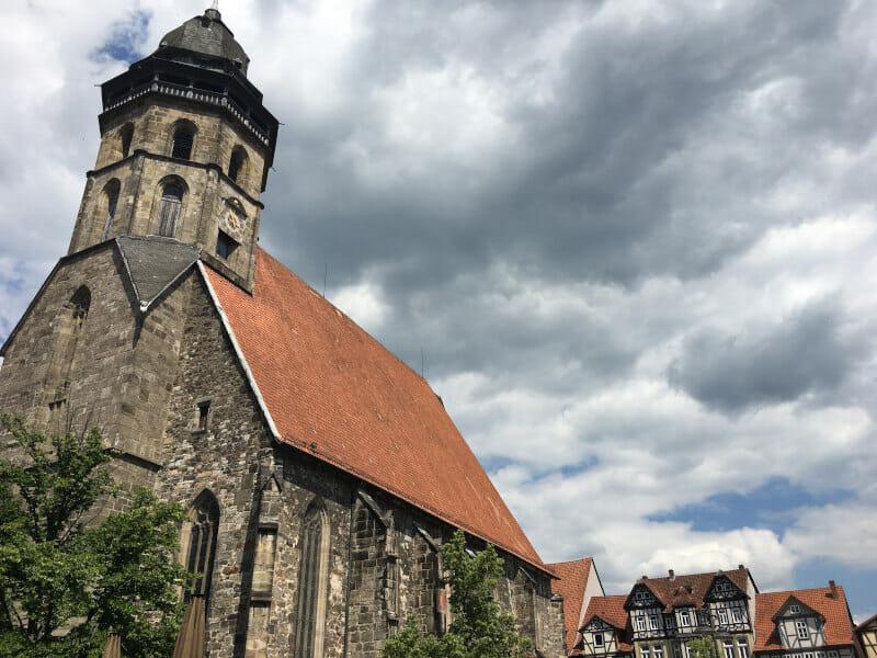 Kirche Hann. Münden - Fuldaradweg