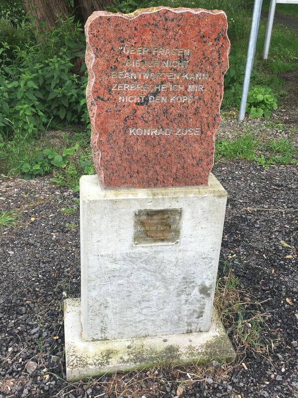 Konrad Zuse Gedenkstein Niederaula - Niederjossa