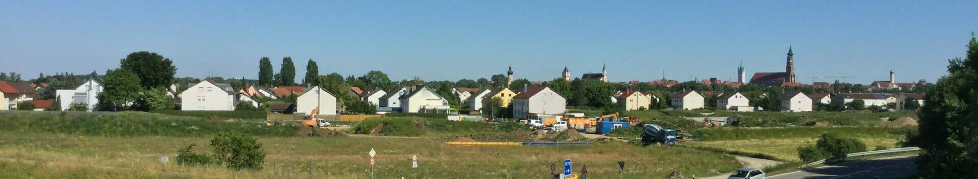 Straubing - Panorama - Donauradweg