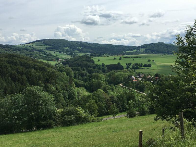 Aussicht zwischen Gersfeld und der Fuldaquelle