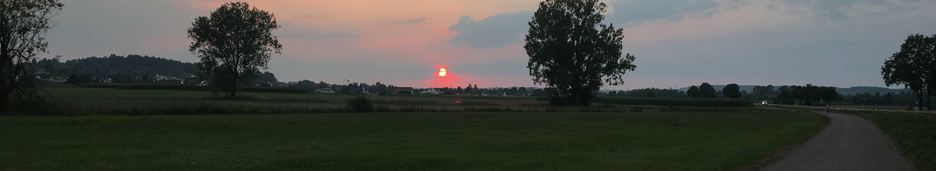 Abenddämmerung - Mengen in Oberschwaben - Radregion