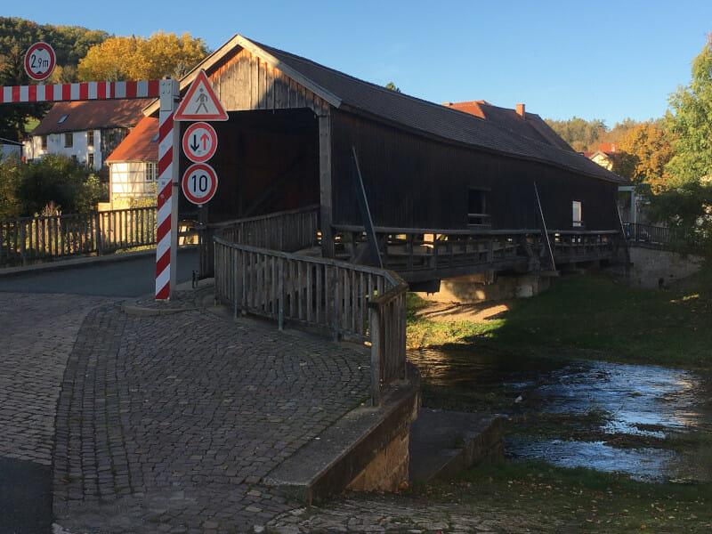 Ilmbrücke bei Buchfart - Ilmtalradweg.