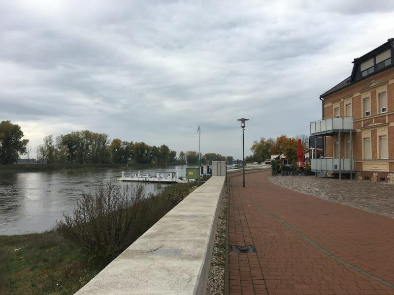 Blick auf die Elbe in Elster (Elbe) am Elberadweg.