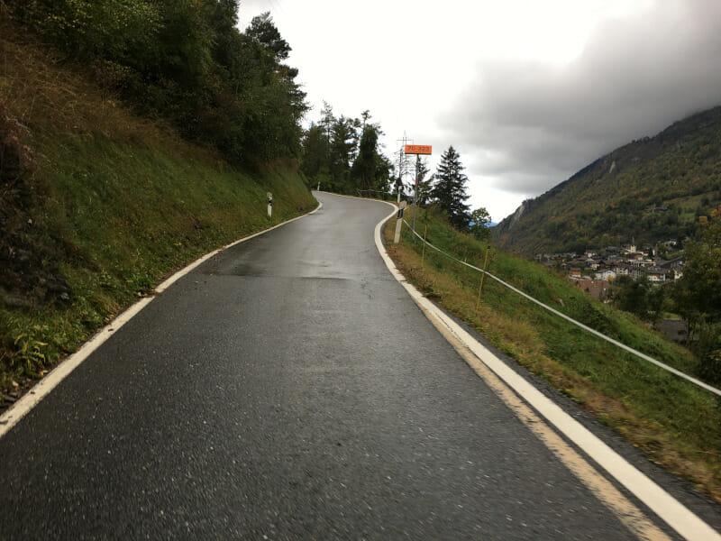 Zwischen Filet und Birchl ging es auf der Rhone-Route durchaus den Berg hinauf.