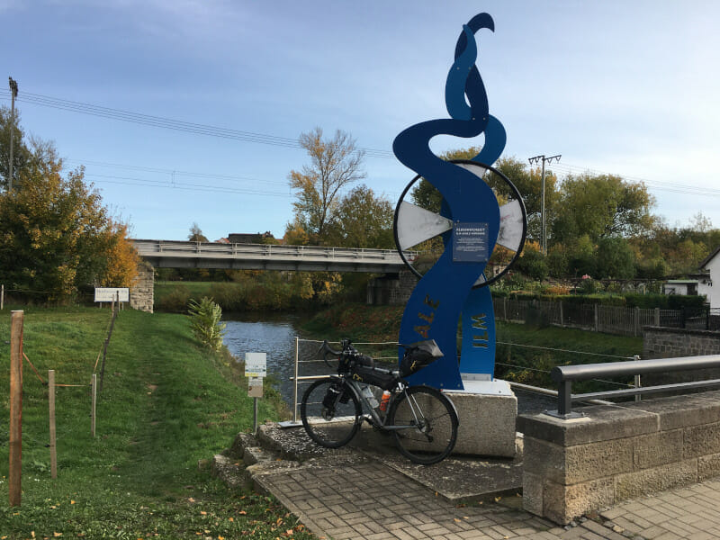 Flusshochzeit in Großheringen: Ilm und Saale fließen zusammen - Ilmtalradweg - Saaleradweg.