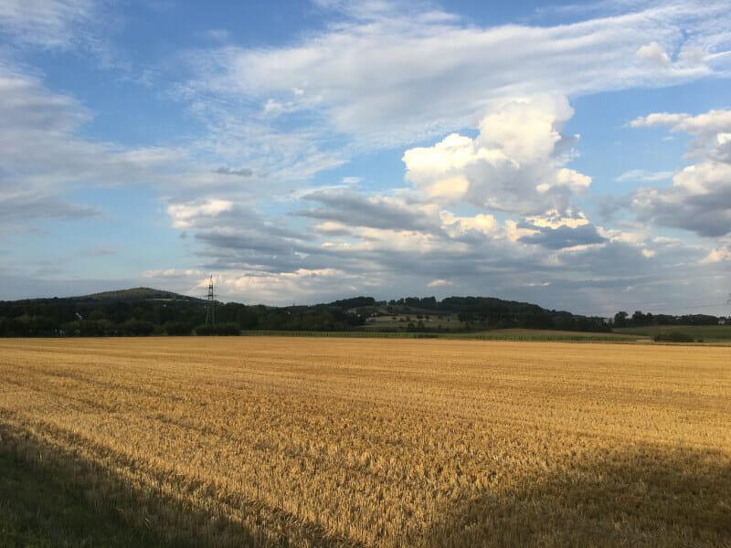 Landschaft hinter Mainleus - Mainradweg