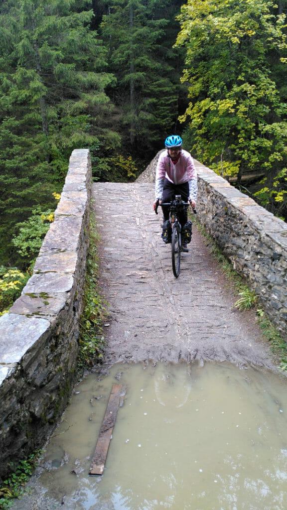Historische Schaertbruecke bei Ausserbinn - Spannende Brücke am Rhoneradweg.