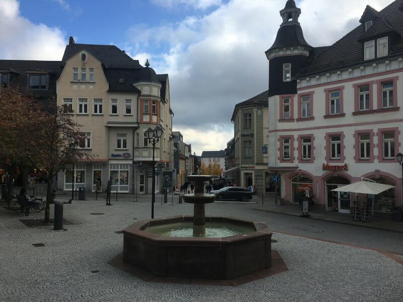Innenstadt Ilmenau - Ilmtalradweg.