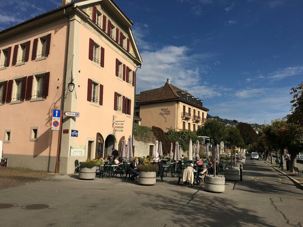 Lutry am Genfer See - Rhone-Route
