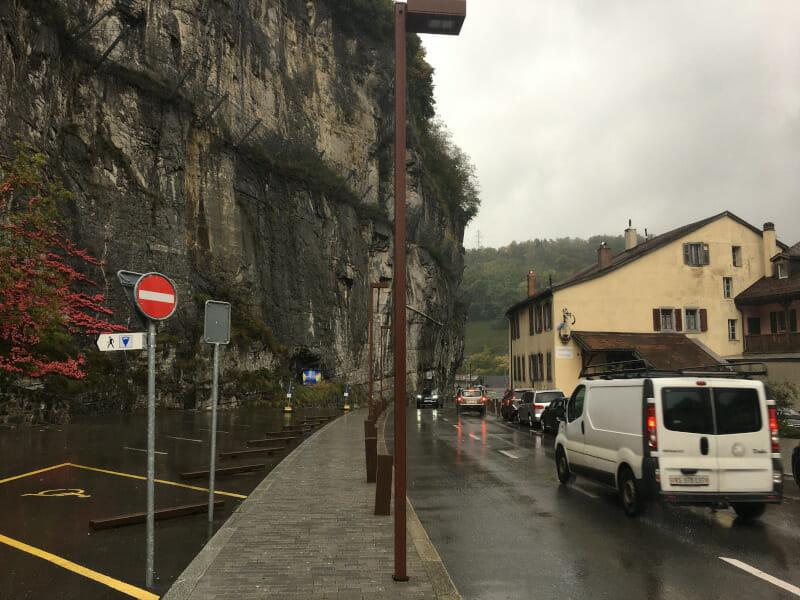 Saint Maurice - Felsen - Rhone-Route