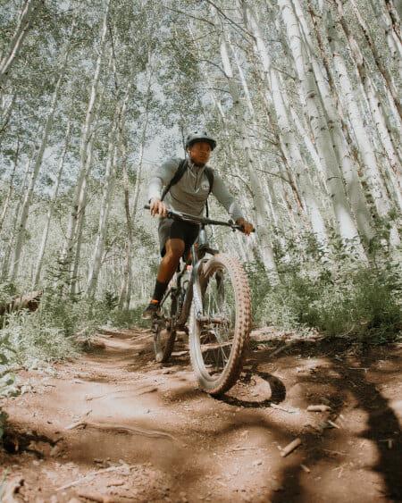 Chris Henry mit dem Fahrrad in den USA