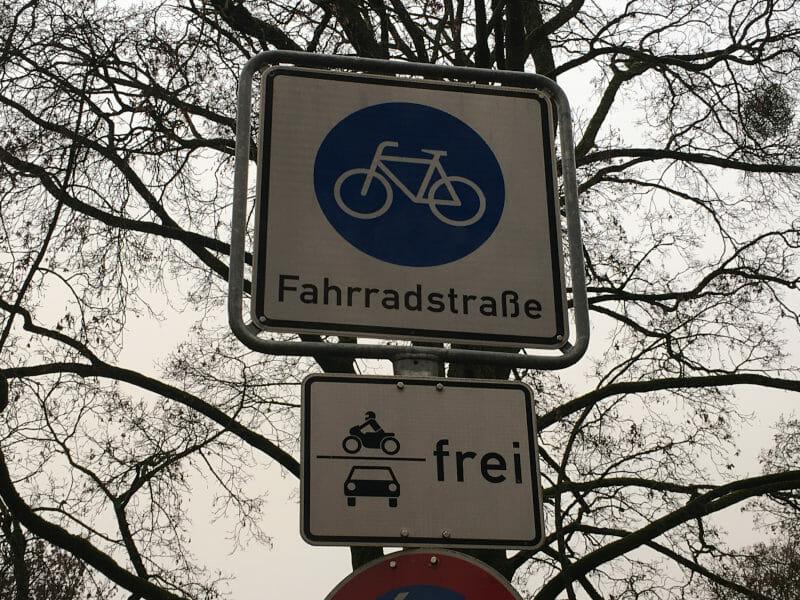 Fahrradstraße Verkehrsschild