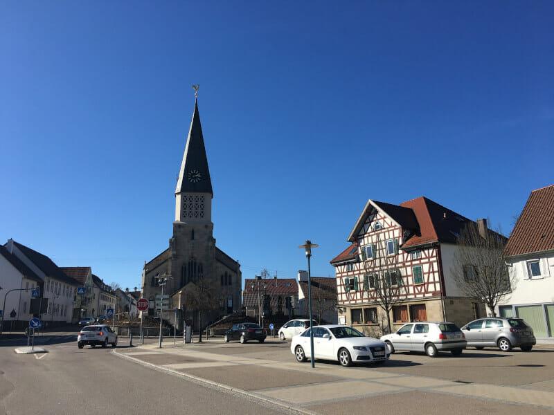 Gschwend - Radweg an der idyllischen Straße