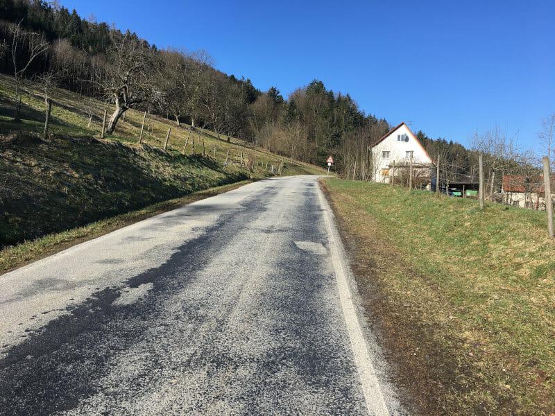 Von Murrhardt zum Siebenknie - Radtour Idyllische Straße