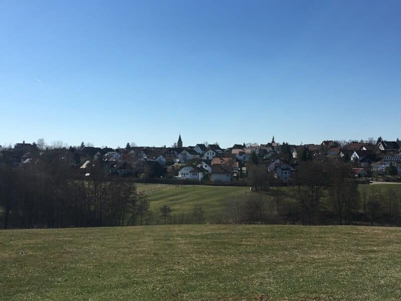 Welzheim am Radweg Idyllische Straße