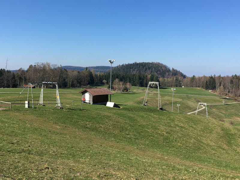 Talwiese Gaistal - Skilift - Schwarzwaldradweg