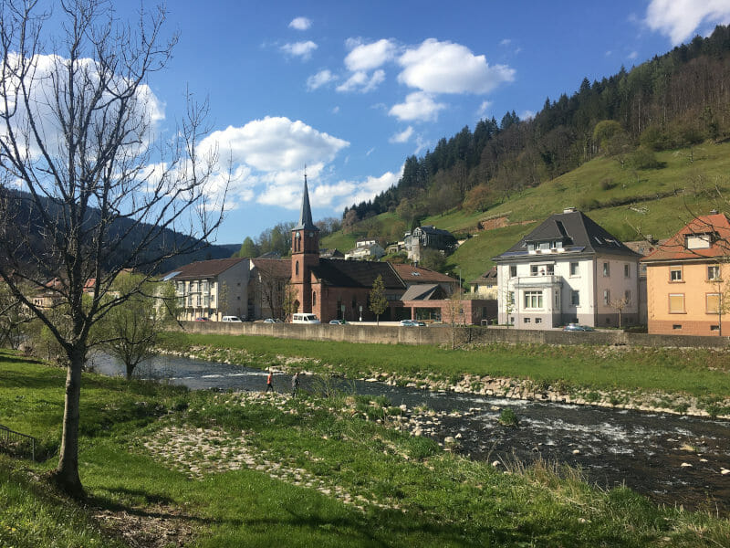 Wolfach am Kinzigtalradweg - Schwarzwaldradweg