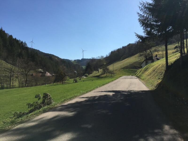 Zwischen Mühlenbach und Landwassereck auf dem Schwarzwaldradweg
