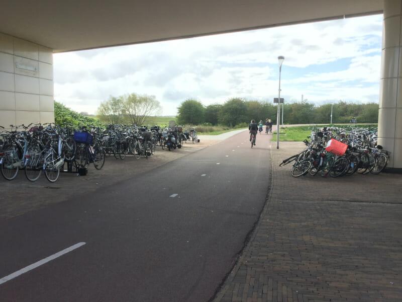 Radweg Nijmegen in der Niederlande