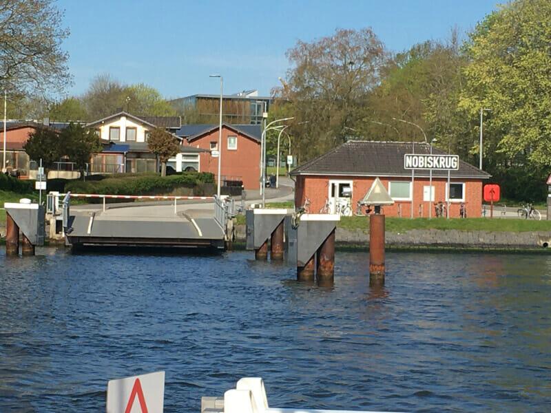 Fähre Nobiskrug am Nord-Ostsee-Kanal-Radweg