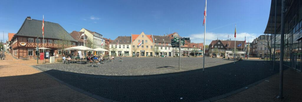 Rendsburg Innenstadt am Nord-Ostsee-Kanal