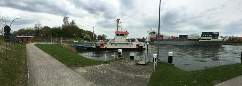 Sehestedt-Süd - Hafen-Panorama - NOK