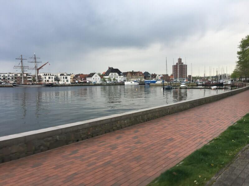 Eckernförde - Hafen - Ankunft 1. Etappe Ostsee-Küsten-Radweg.