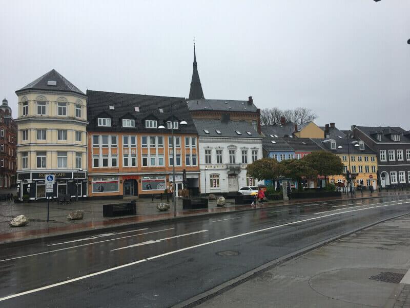 Flensburg bei der Hafenspitze. Ostseeküstenradweg 2021.
