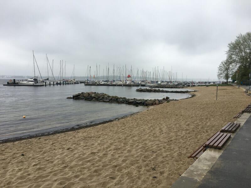 Mönkeberg - Strand an der Ostsee - Ostseeküstenradweg.