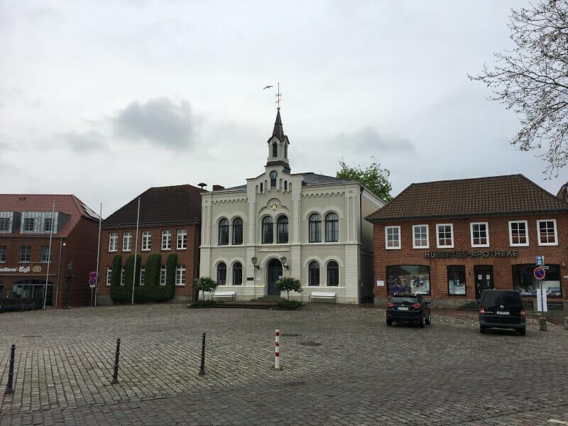 Oldenburg in Holstein - die Innenstadt.