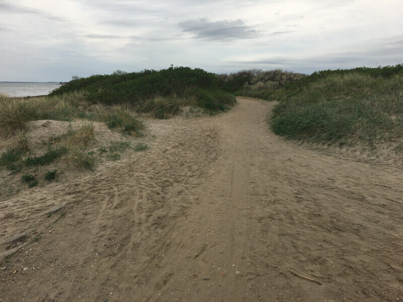 Ostseebad Damp - Radweg auf dem Sand.