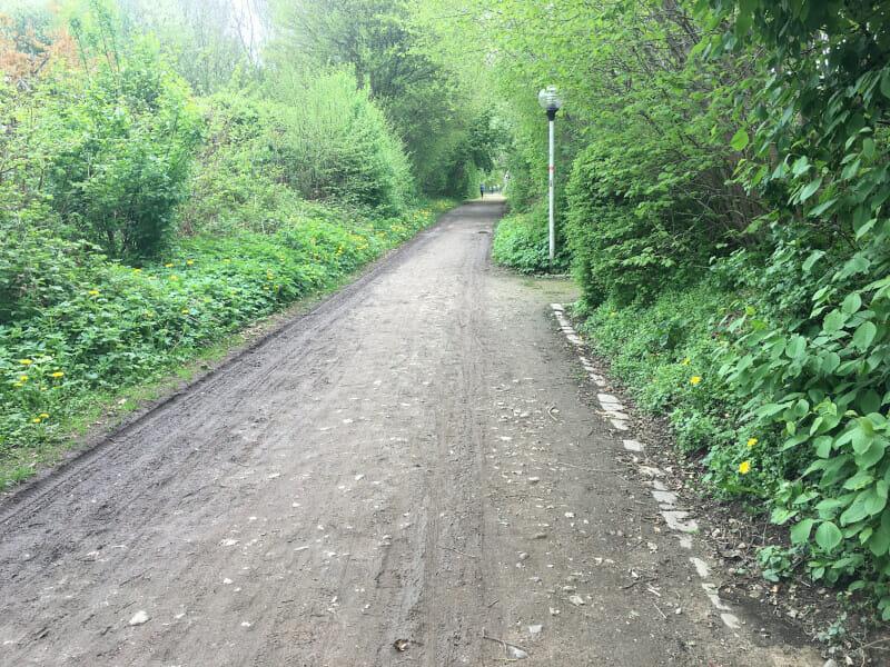 Radweg am Schilksee - Ostseeküstenradweg.