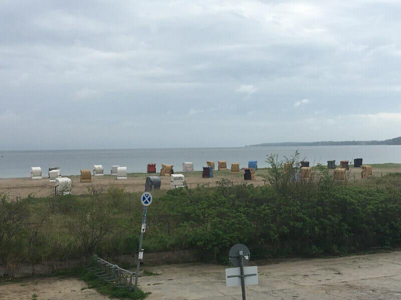 Strandkörbe Eckernförde Ostseeküstenradweg.