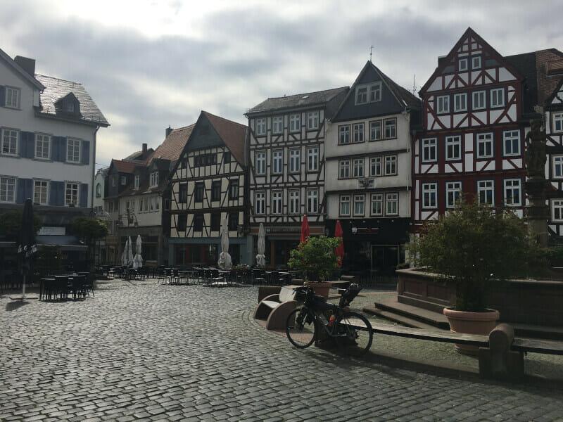 Butzbach Innenstadt mit Gravelbike - Limesradweg