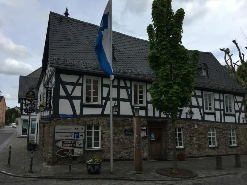 Höhr-Grenzhausen am deutschen Limesradweg
