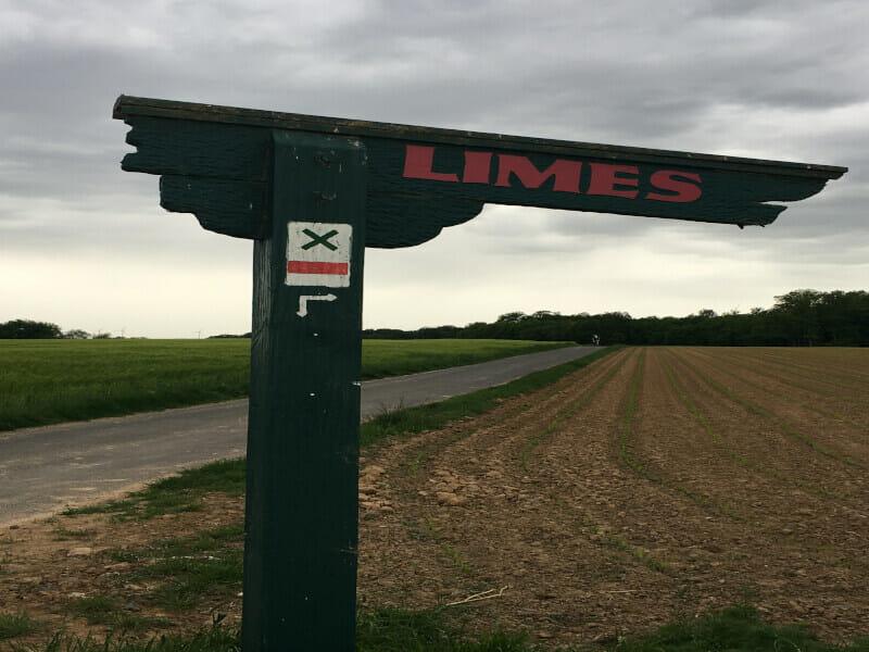 Limesradweg - Limesschild.