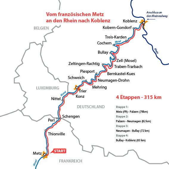 Moselradweg Karte