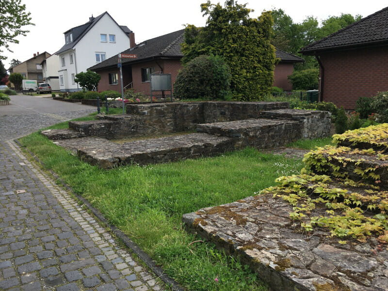 Römerkastell Niederbiber am Limesradweg.